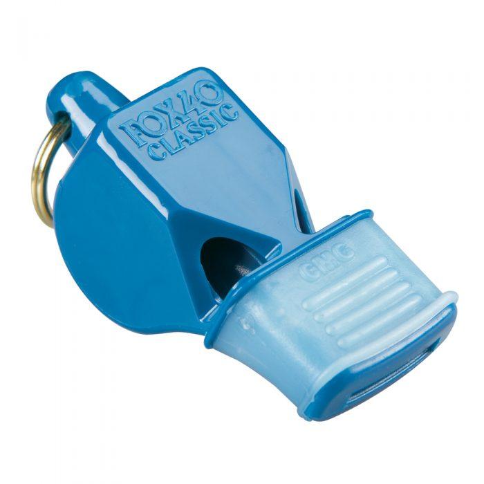 Sifflet Fox 40 Classic bleu avec embout en caoutchouc