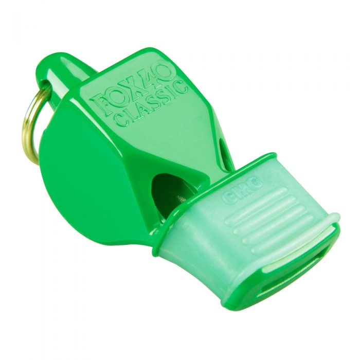 Sifflet Fox 40 Classic vert néon avec embout en caoutchouc