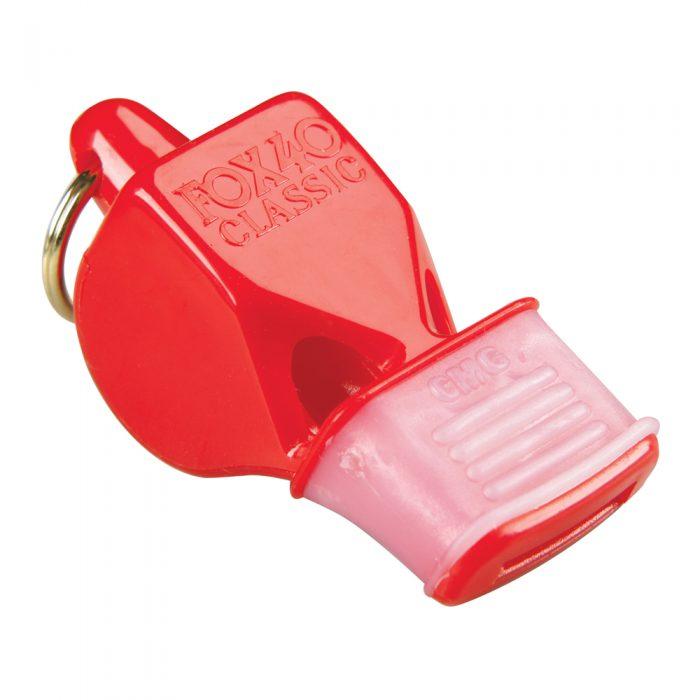 Sifflet Fox 40 Classic rouge avec embout en caoutchouc
