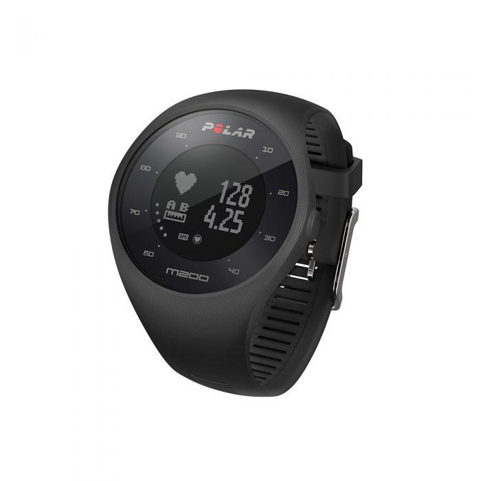 Montre GPS de course à pied avec mesure du rythme cardiaque Polar M200 noir