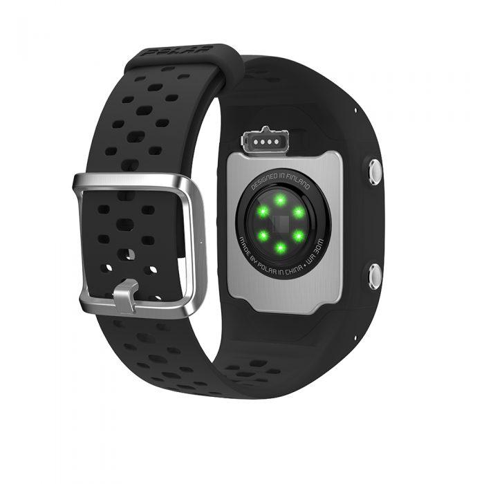 Montre GPS de course à pied avec capteur de rythme cardiaque Polar M430 noir
