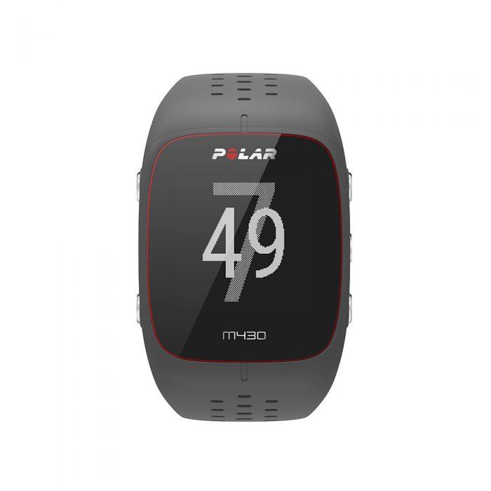 Montre GPS de course à pied avec capteur de rythme cardiaque Polar M430 gris