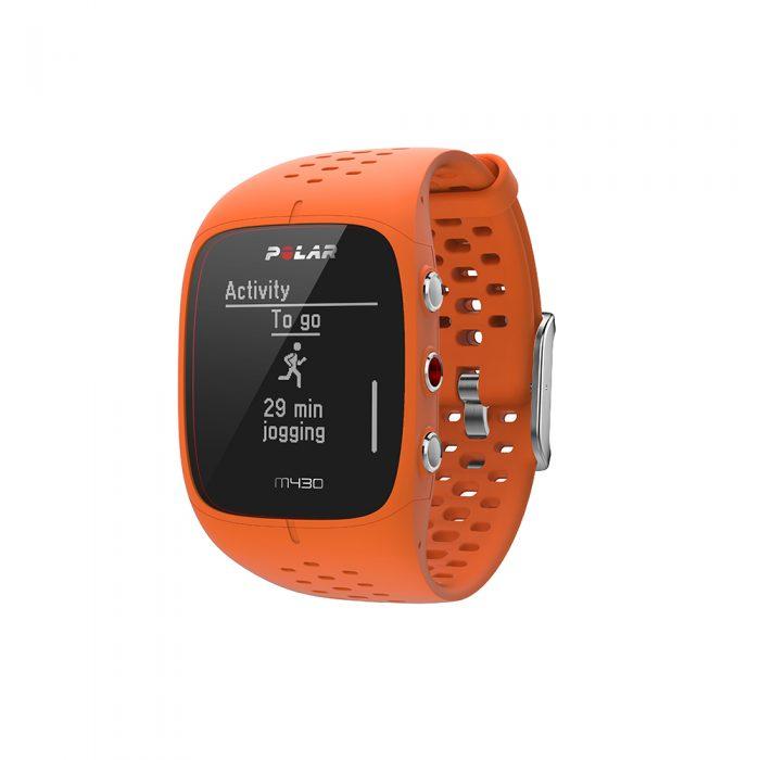 Montre GPS de course à pied avec capteur de rythme cardiaque Polar M430 orange