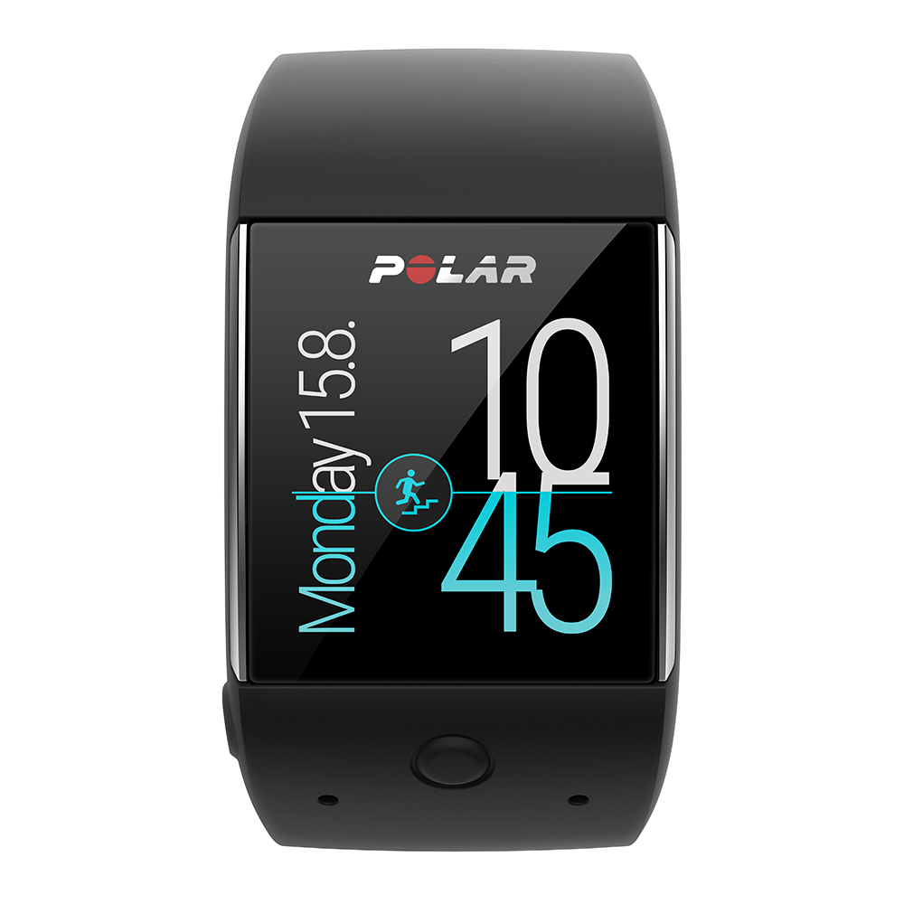 Montre GPS intelligente Android Wear 2.0 Polar M600 noir