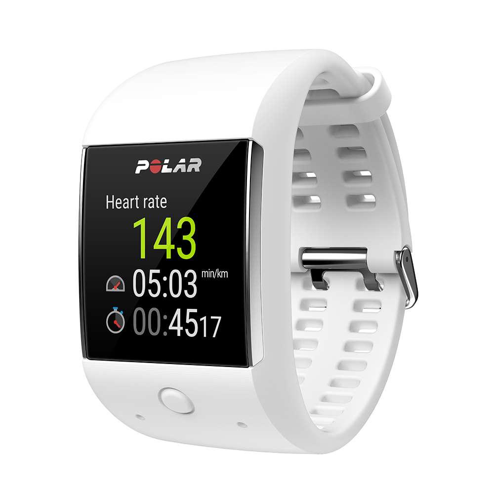Montre GPS intelligente Android Wear 2.0 Polar M600 blanc