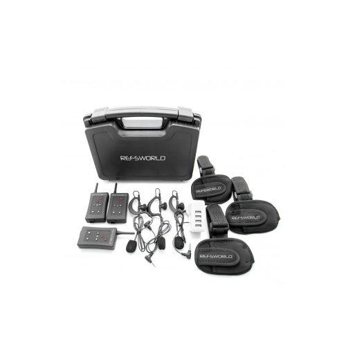 Écouteur transmetteur-récepteur pour communiquer sur le terrain entre arbitres