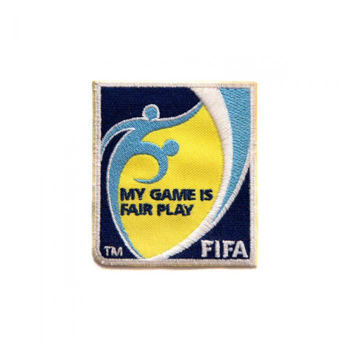 Badge d'épaule FIFA avec velcro et inscription MY GAME IS FAIR PLAY