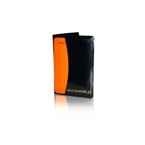 Calepin de note de qualité en cuir avec cartons jaune et rouge inclus et feuilles de note réutilisables